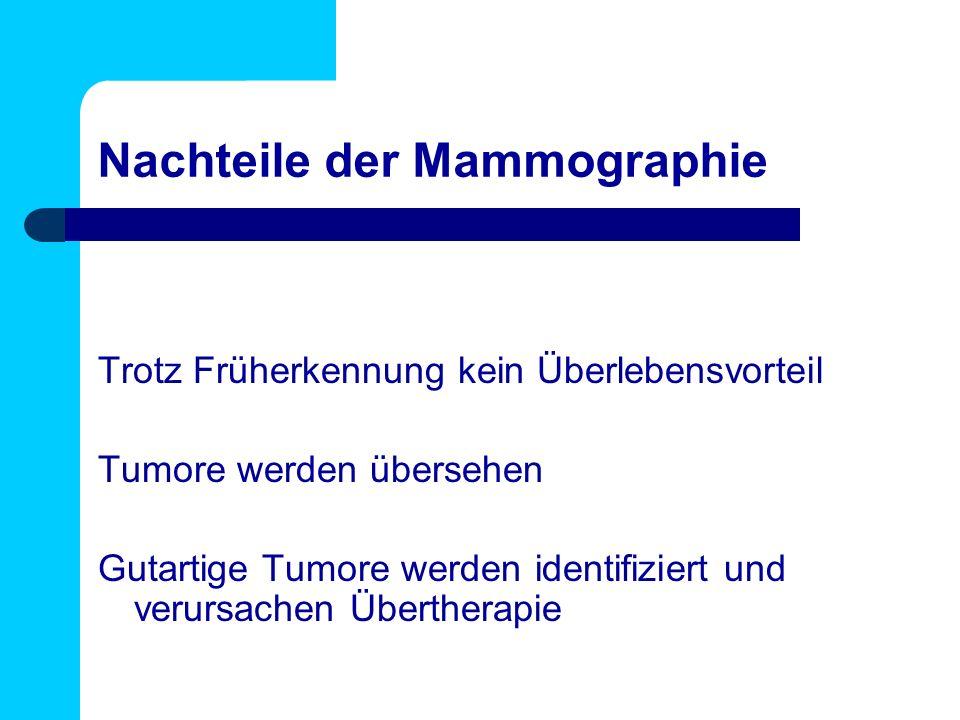 Nachteile der Mammographie