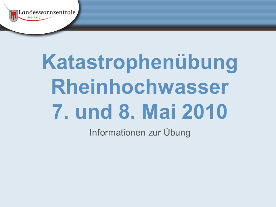 Katastrophenübung Rheinhochwasser 7. und 8. Mai 2010