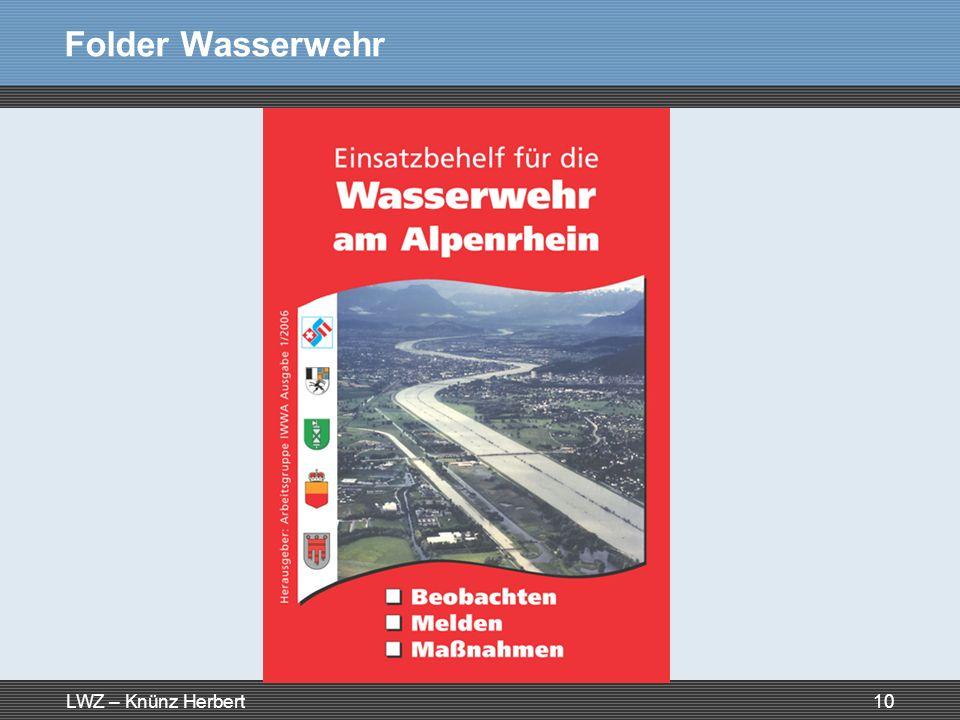 Folder Wasserwehr