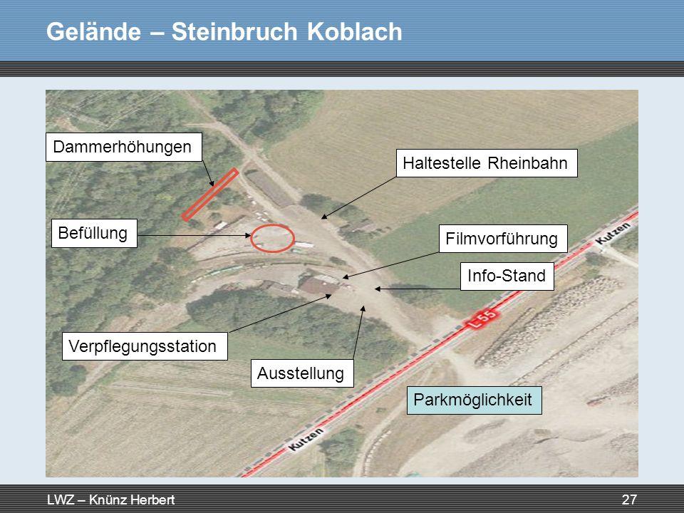 Gelände – Steinbruch Koblach