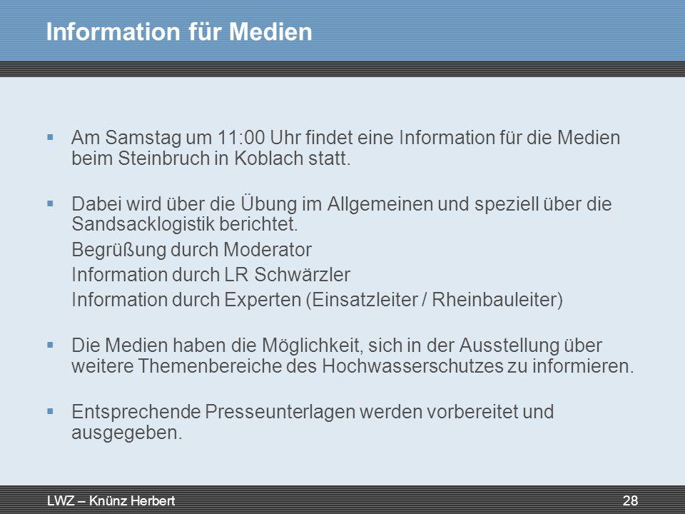 Information für Medien
