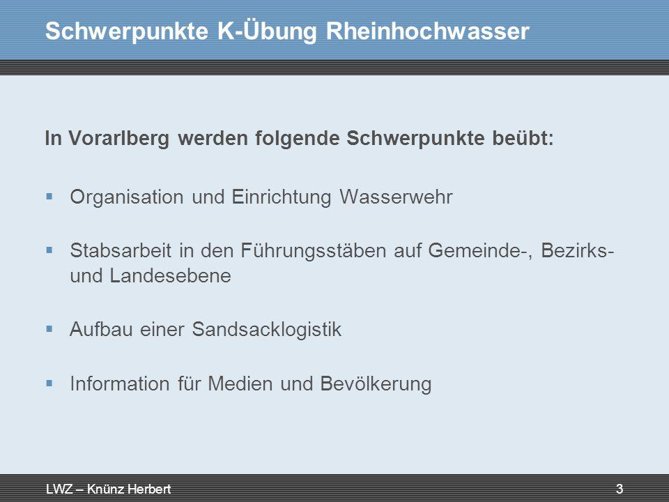 Schwerpunkte K-Übung Rheinhochwasser