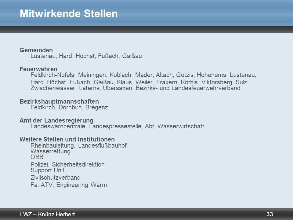 Mitwirkende Stellen Gemeinden Lustenau, Hard, Höchst, Fußach, Gaißau
