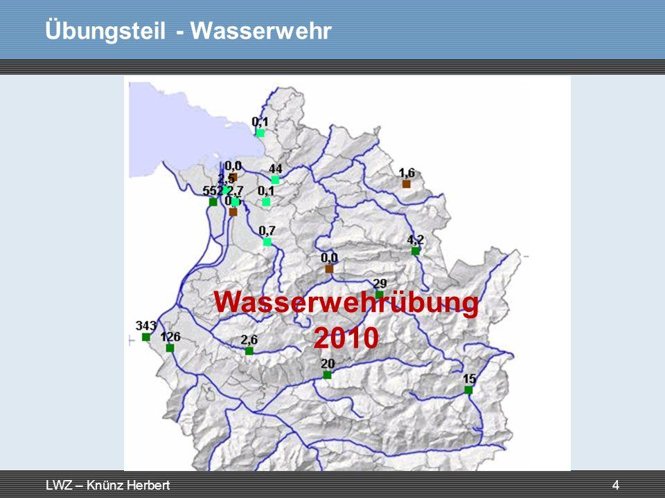 Übungsteil - Wasserwehr