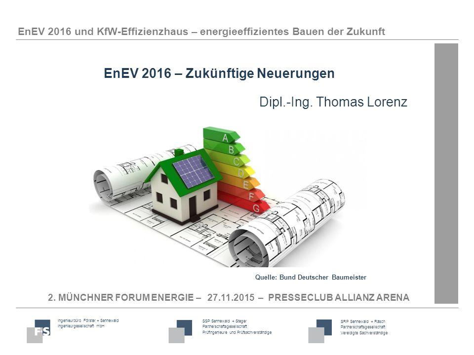 EnEV 2016 – Zukünftige Neuerungen