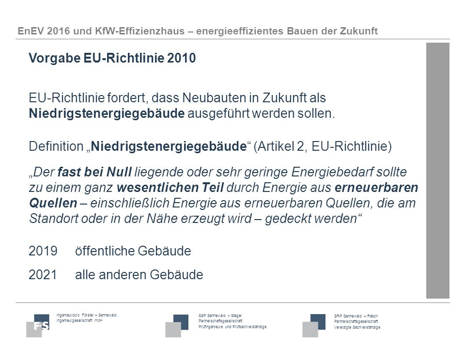 Vorgabe EU-Richtlinie 2010