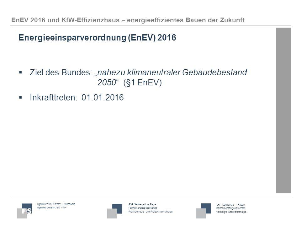 Energieeinsparverordnung (EnEV) 2016