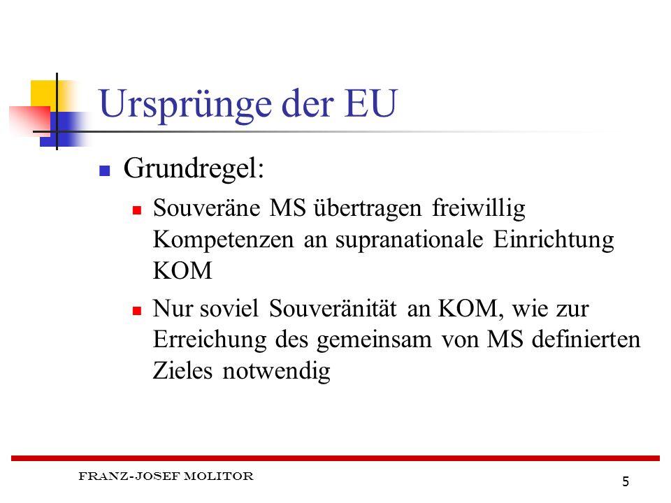 Ursprünge der EU Grundregel: