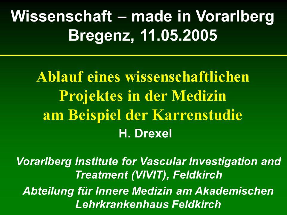 Wissenschaft – made in Vorarlberg Bregenz, 11.05.2005