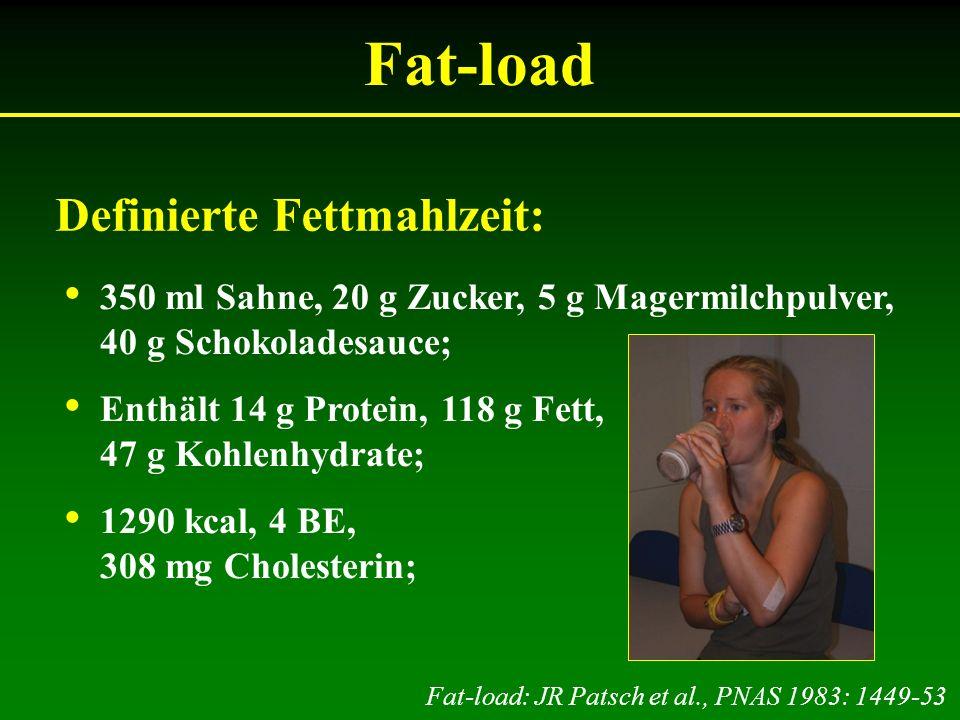 Fat-load Definierte Fettmahlzeit: