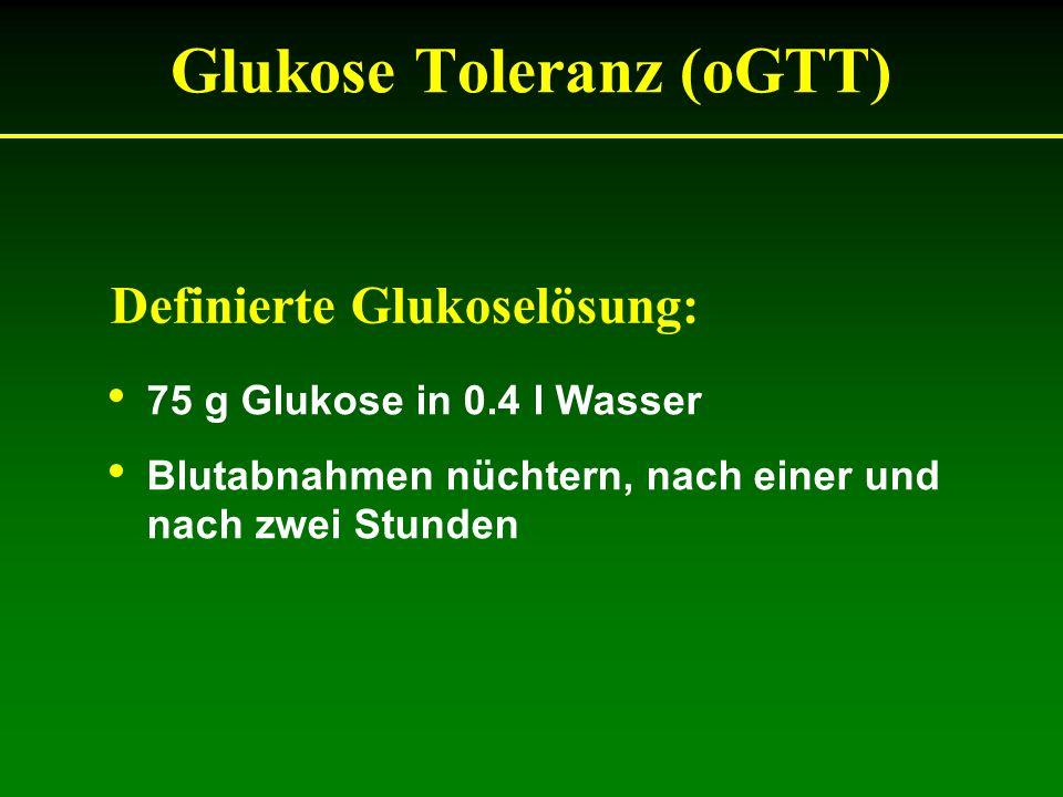 Glukose Toleranz (oGTT)