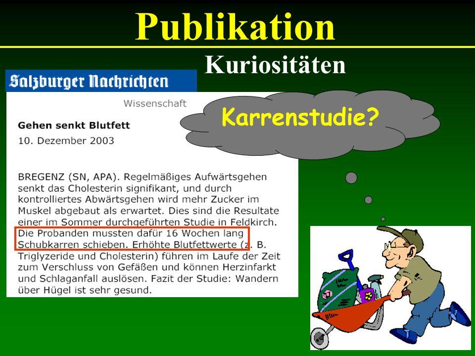 Publikation Kuriositäten Karrenstudie