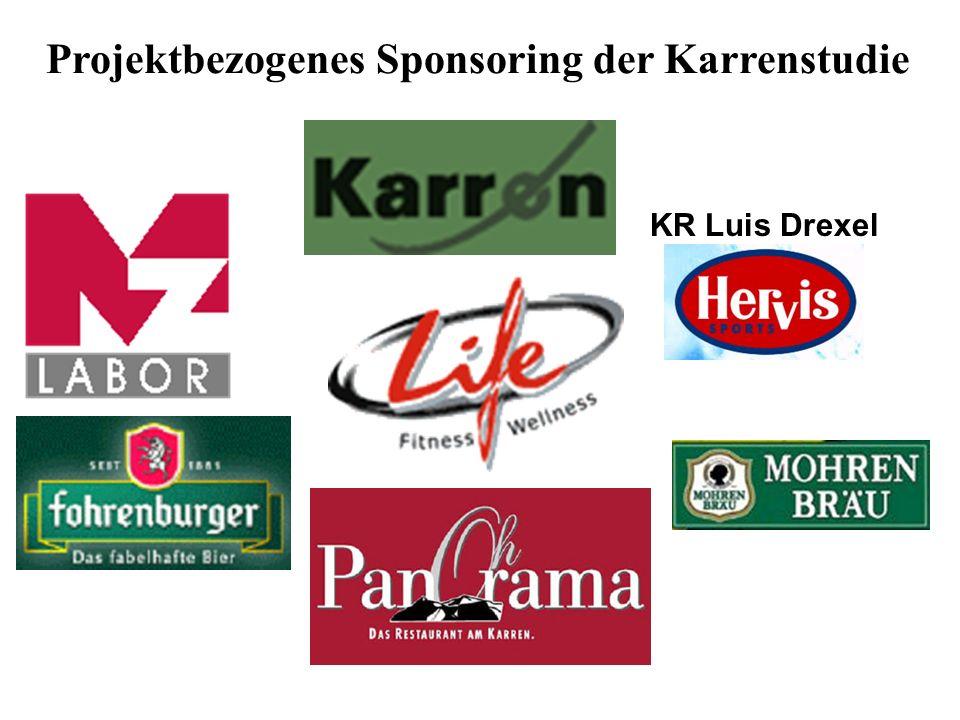 Projektbezogenes Sponsoring der Karrenstudie