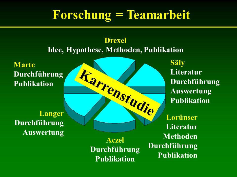 Karrenstudie Forschung = Teamarbeit Drexel