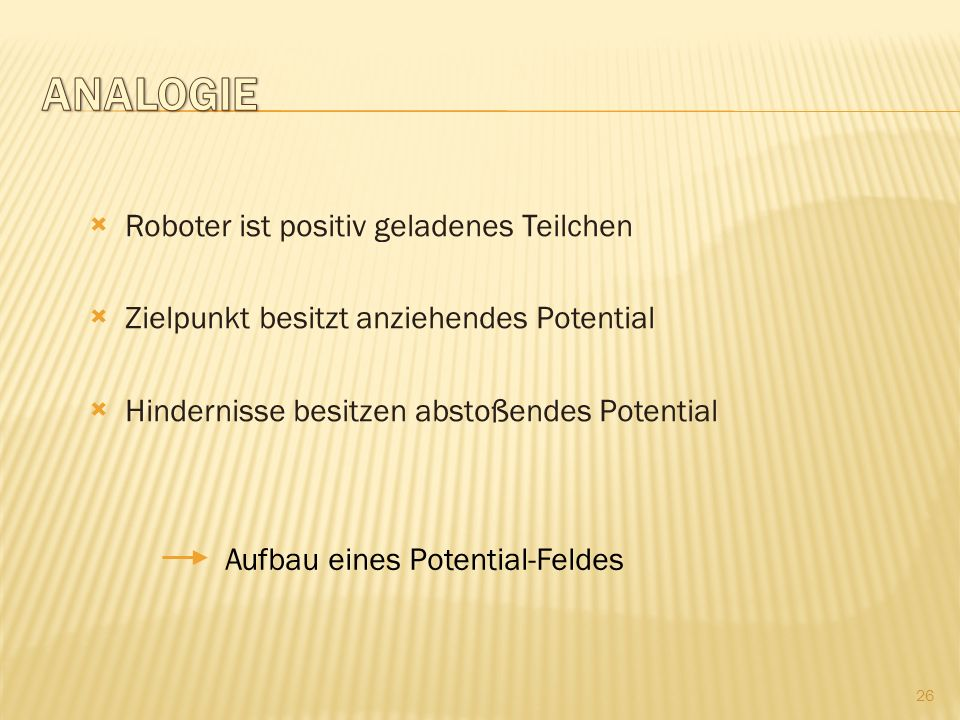 Analogie Roboter ist positiv geladenes Teilchen