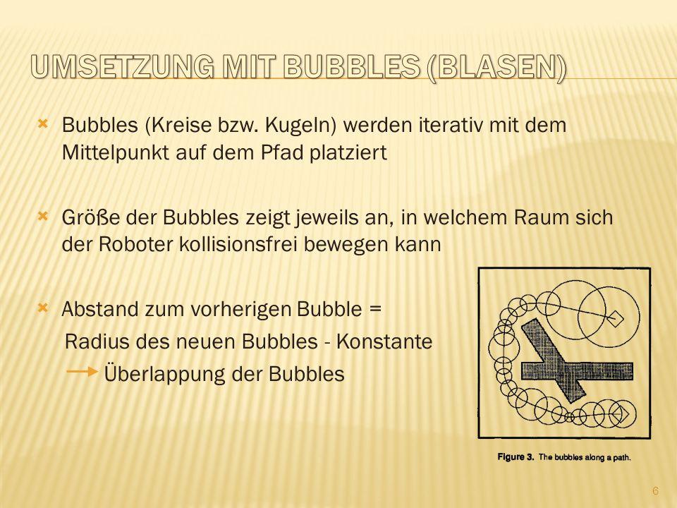 Umsetzung mit Bubbles (Blasen)