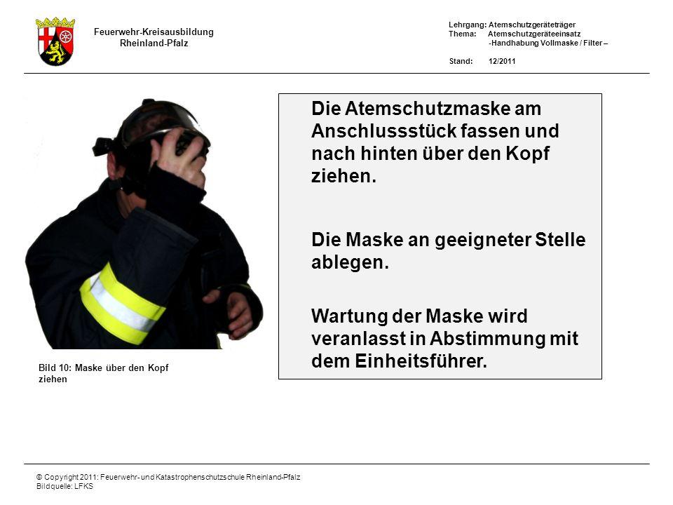 Die Atemschutzmaske am
