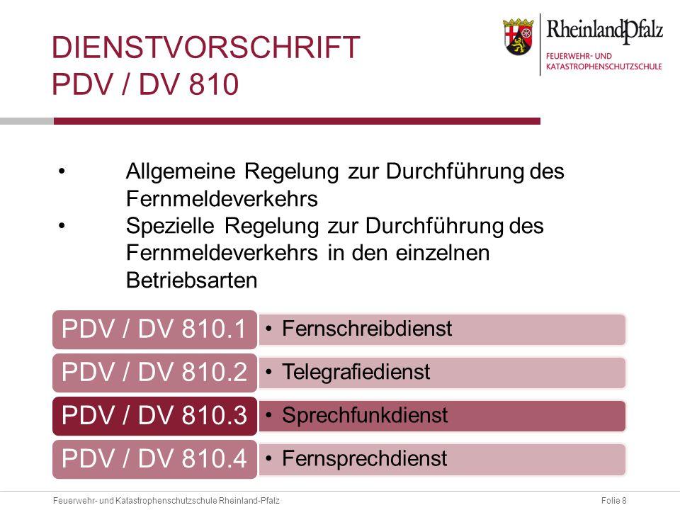 Dienstvorschrift PDV / DV 810
