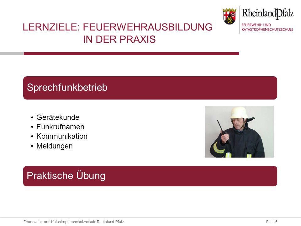 Lernziele: Feuerwehrausbildung in der Praxis