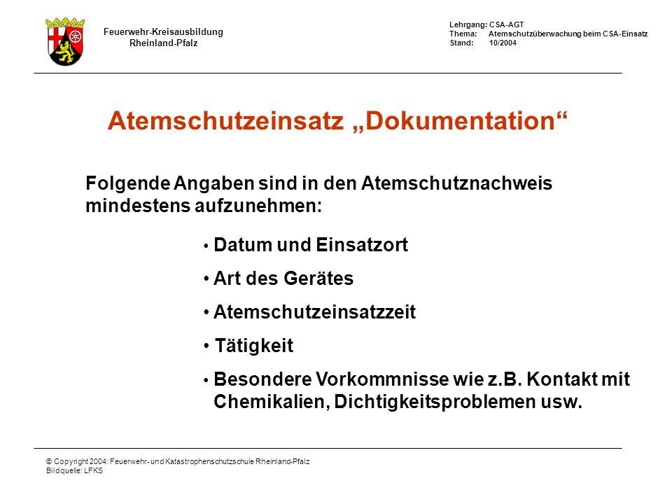 """Atemschutzeinsatz """"Dokumentation"""