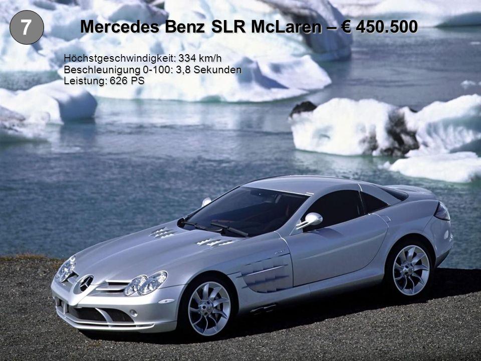 Mercedes Benz SLR McLaren – € 450.500