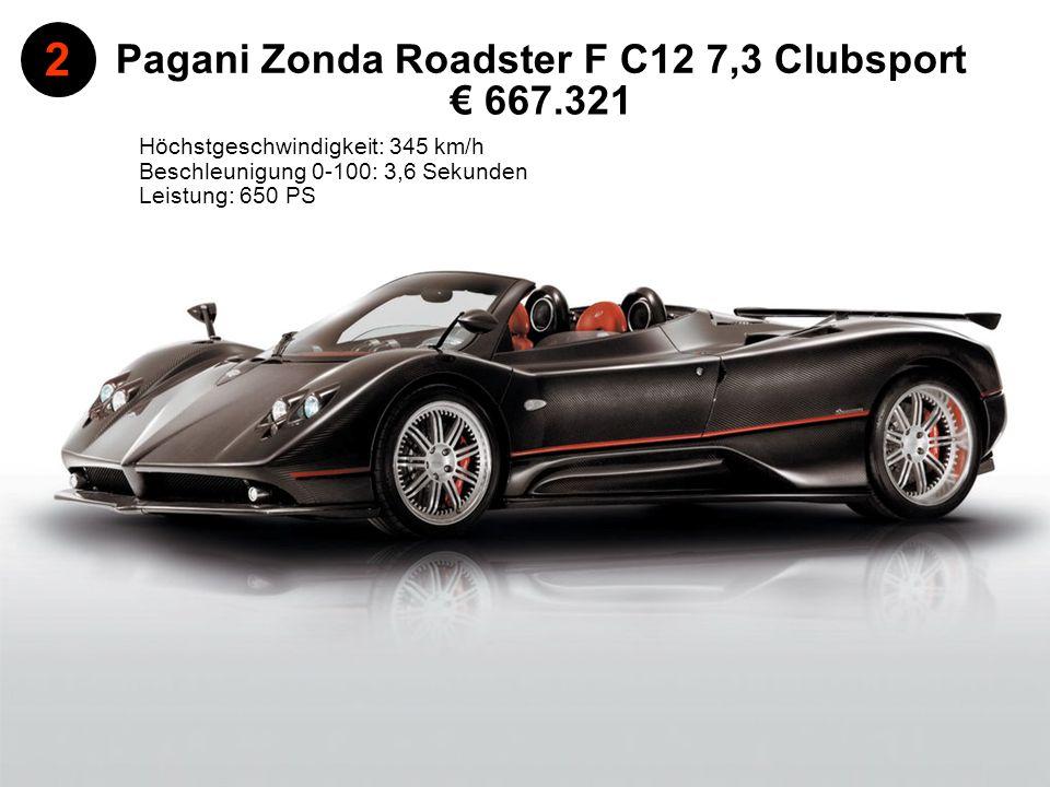 Pagani Zonda Roadster F C12 7,3 Clubsport