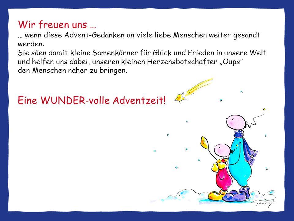 Eine WUNDER-volle Adventzeit!