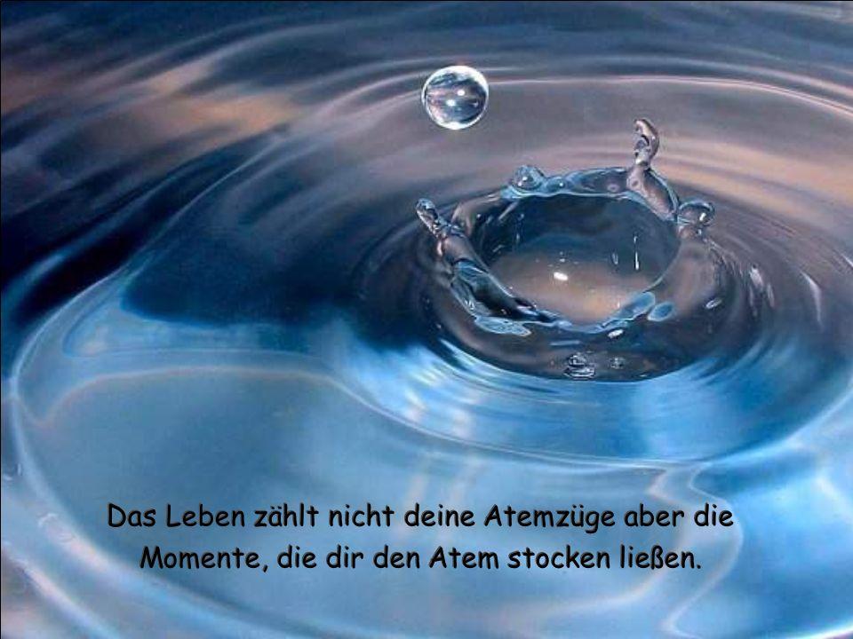 Das Leben zählt nicht deine Atemzüge aber die Momente, die dir den Atem stocken ließen.