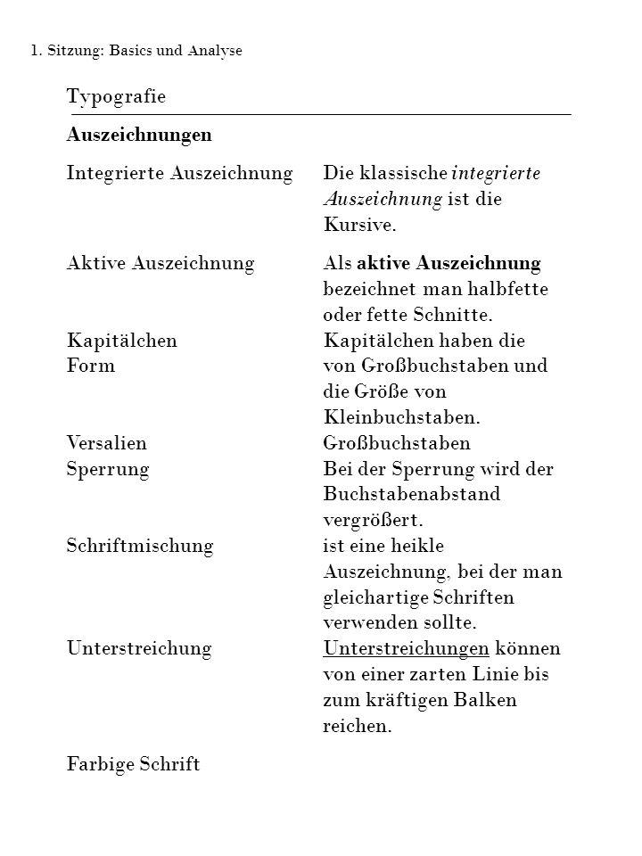 Typografie Auszeichnungen