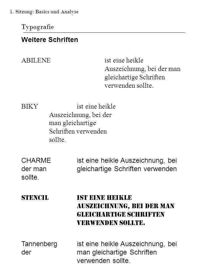 Typografie Weitere Schriften