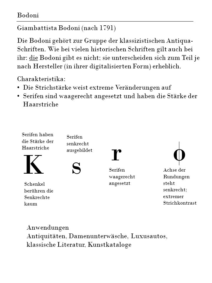 r o K s Bodoni Giambattista Bodoni (nach 1791)