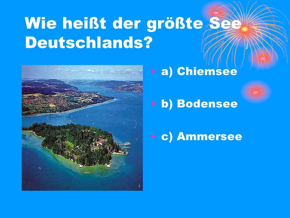 Wie heißt der größte See Deutschlands