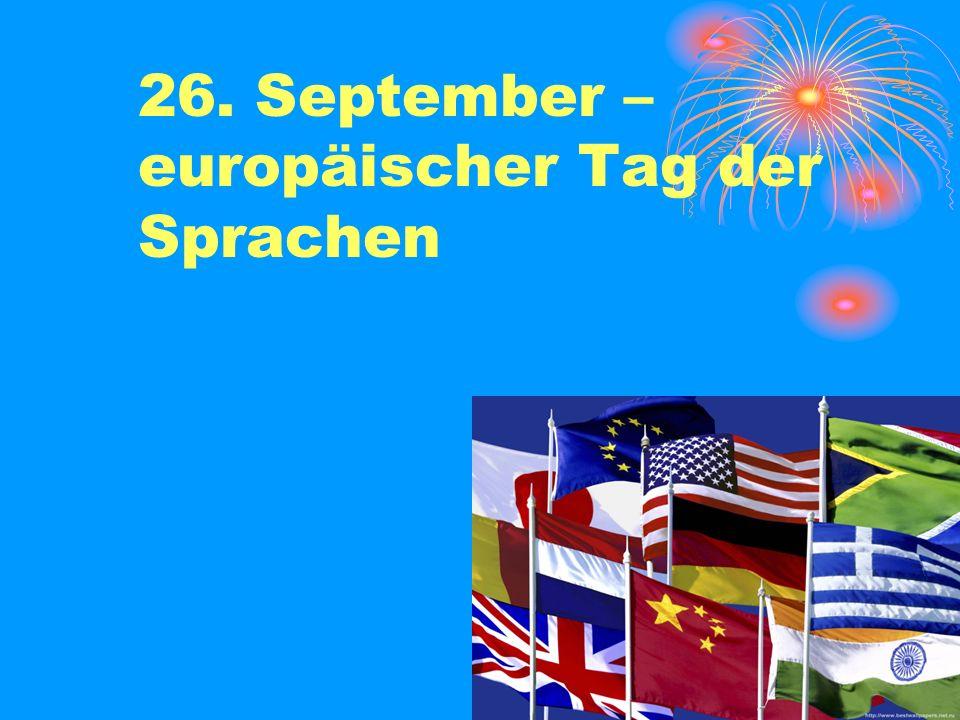 26. September – europäischer Tag der Sprachen