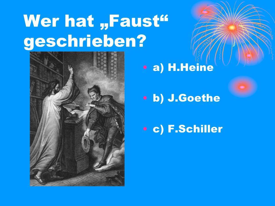 """Wer hat """"Faust geschrieben"""