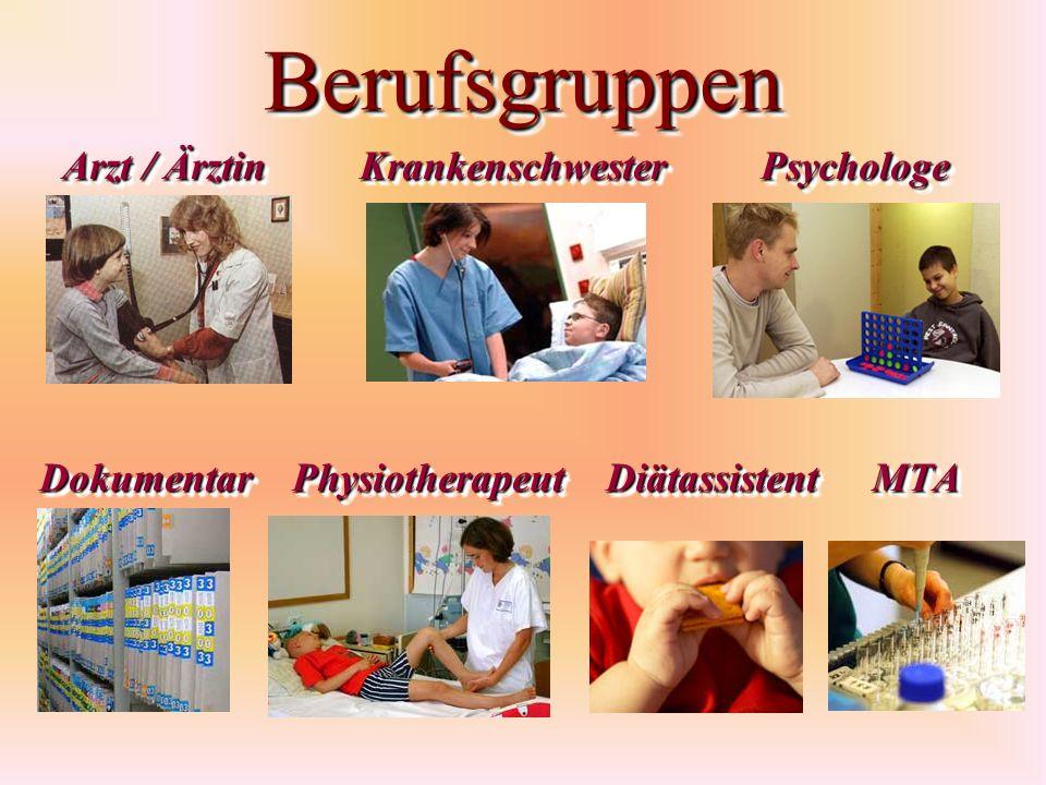 Berufsgruppen Arzt / Ärztin Krankenschwester Psychologe