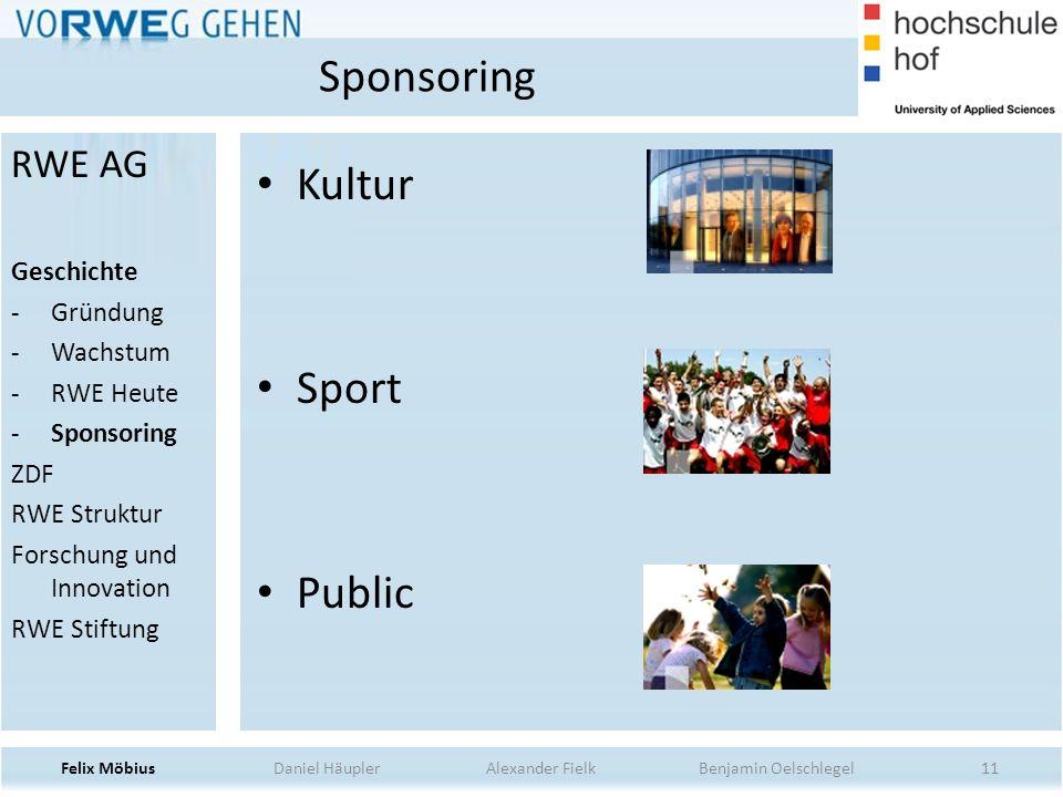 Sponsoring Kultur Sport Public RWE AG Geschichte Gründung Wachstum