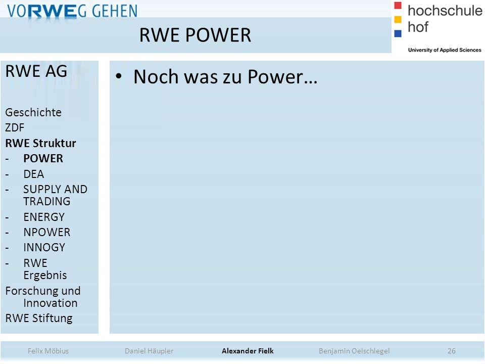 RWE POWER Noch was zu Power… RWE AG Geschichte ZDF RWE Struktur POWER