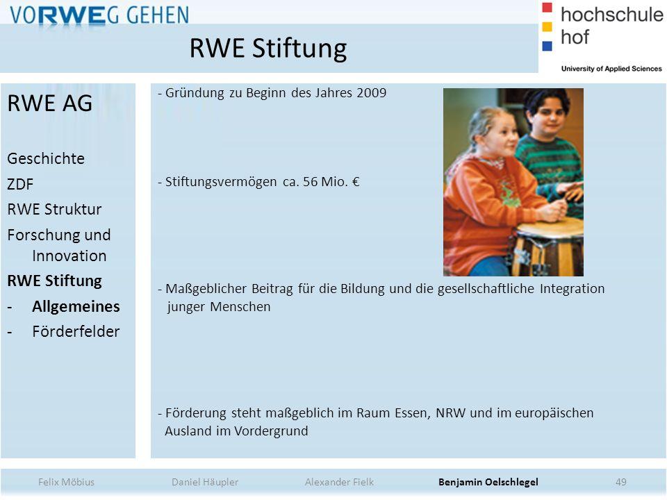 RWE Stiftung RWE AG Geschichte ZDF RWE Struktur