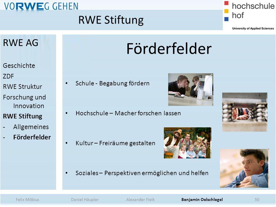 Förderfelder RWE Stiftung RWE AG Geschichte ZDF RWE Struktur