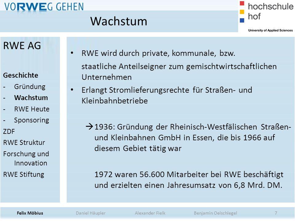 Wachstum RWE AG RWE wird durch private, kommunale, bzw.