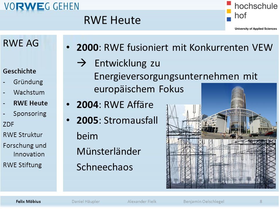RWE Heute RWE AG 2000: RWE fusioniert mit Konkurrenten VEW
