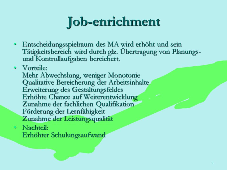 Job-enrichment