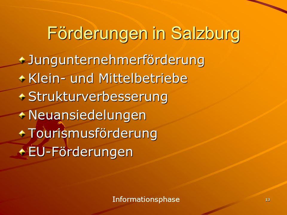 Förderungen in Salzburg