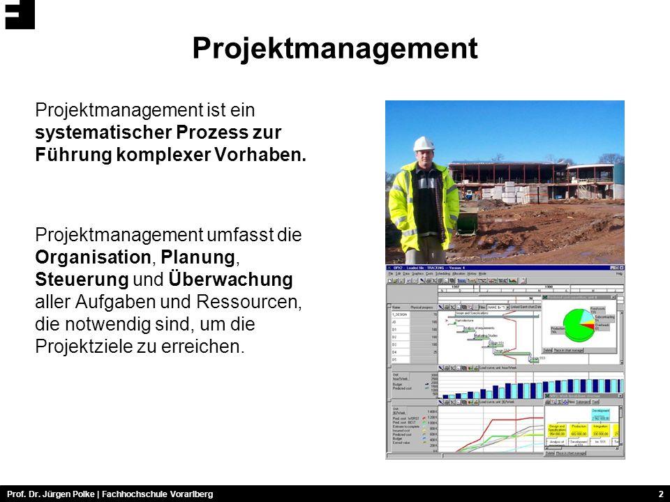 Projektmanagement Projektmanagement ist ein systematischer Prozess zur Führung komplexer Vorhaben.