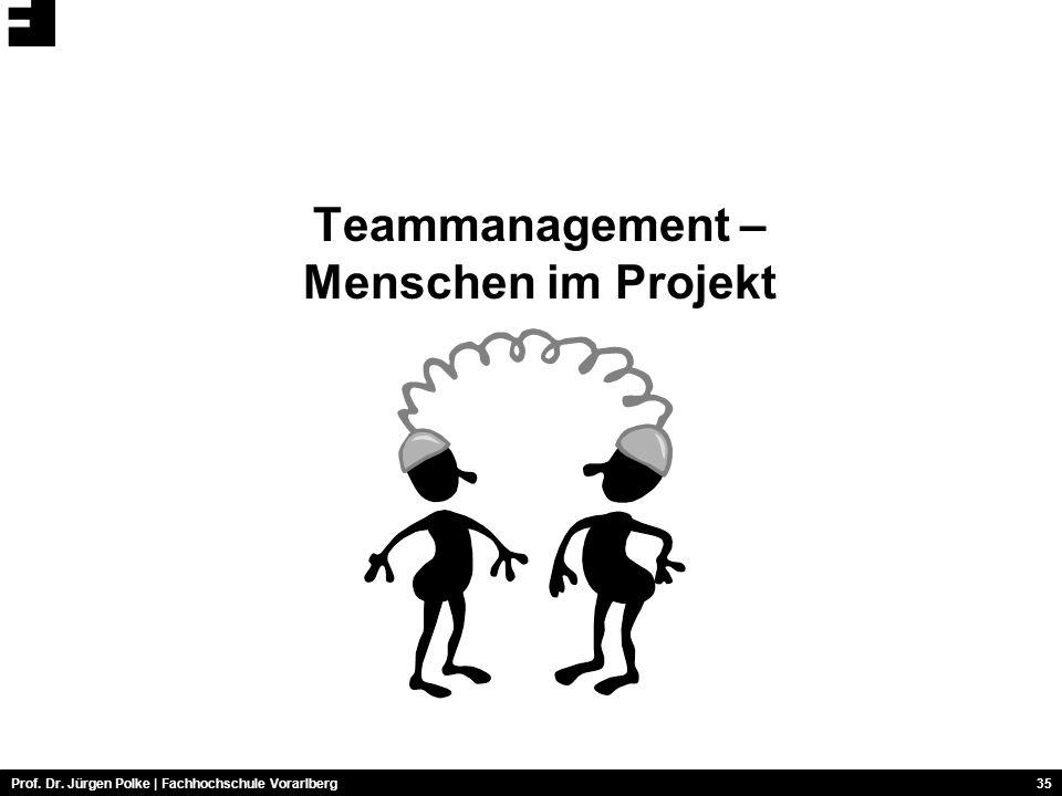 Teammanagement – Menschen im Projekt