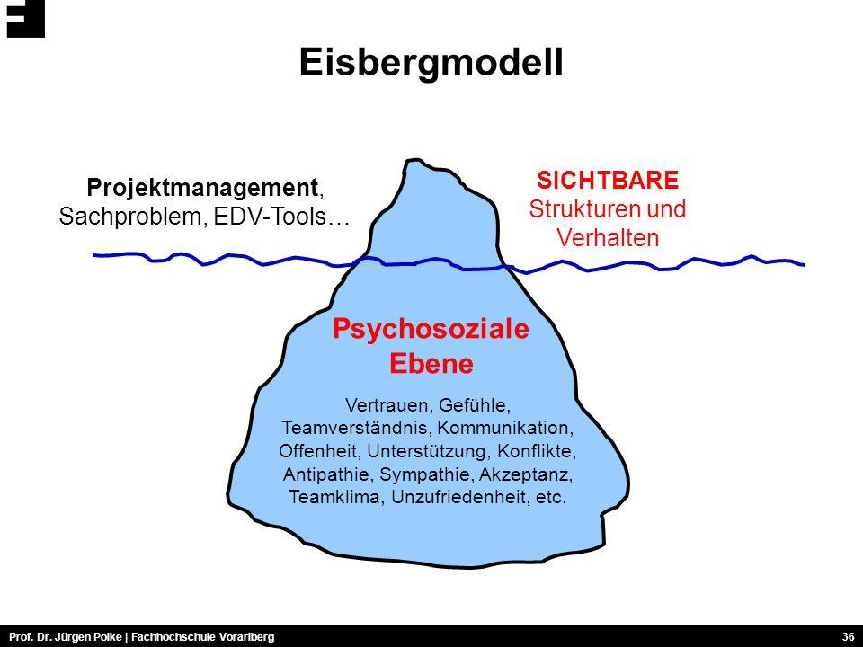 Eisbergmodell Psychosoziale Ebene SICHTBARE Strukturen und Verhalten