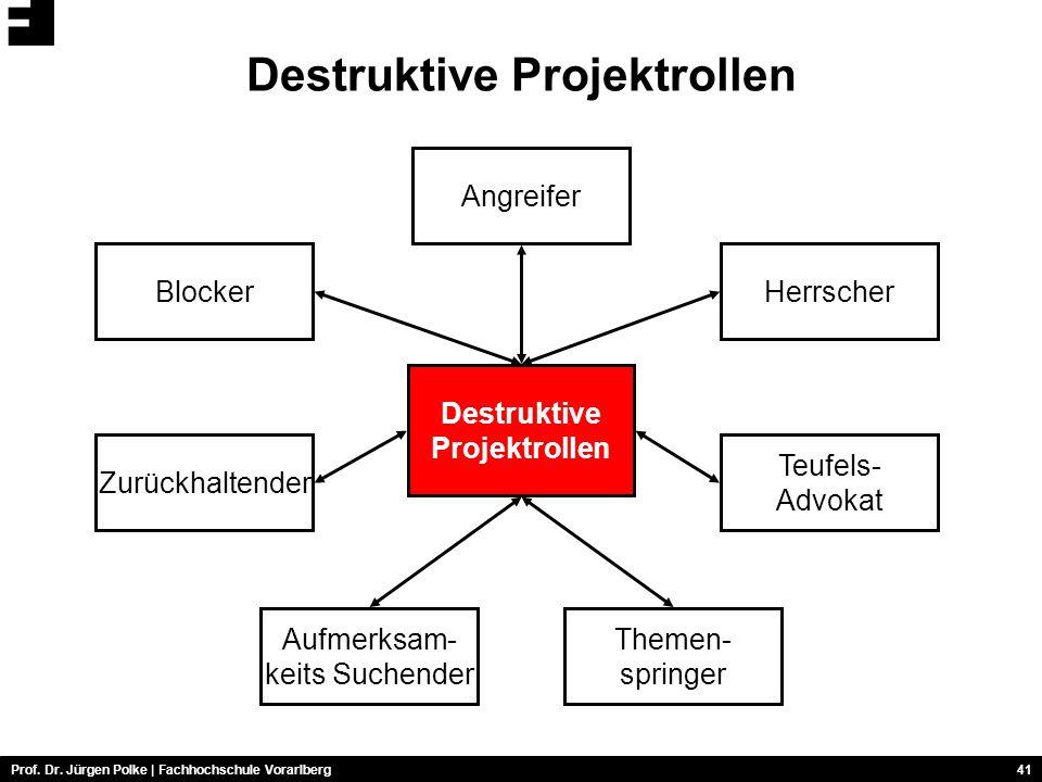 Destruktive Projektrollen