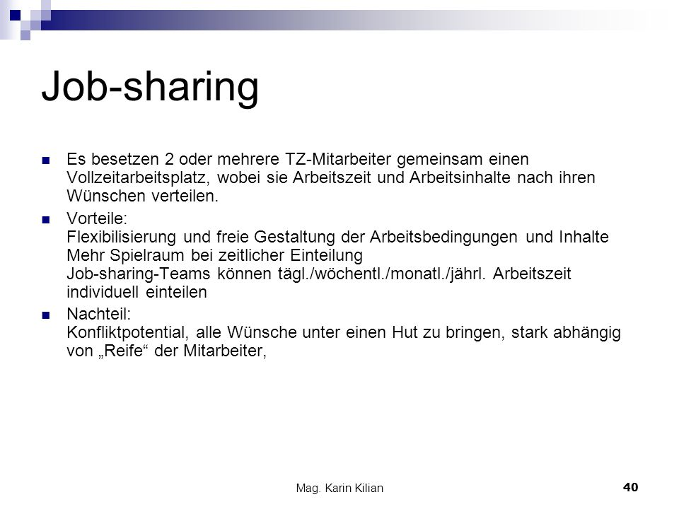 Job-sharing