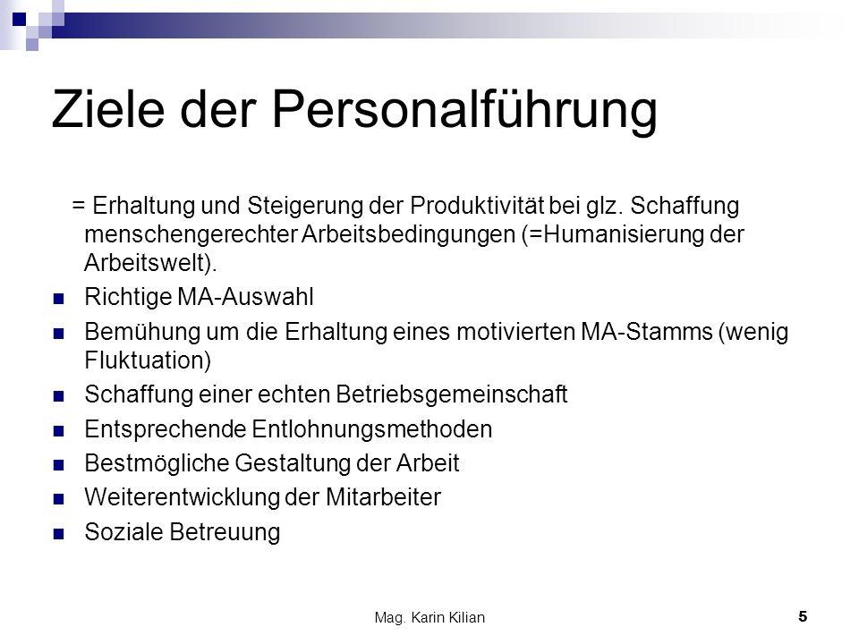 Ziele der Personalführung