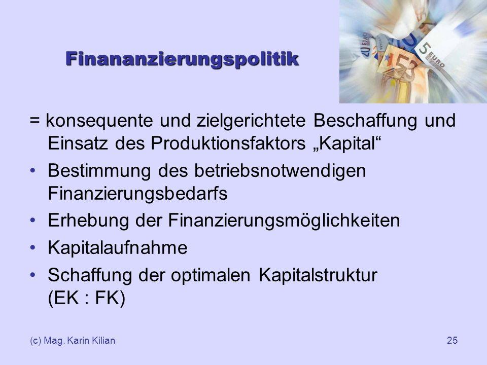Finananzierungspolitik